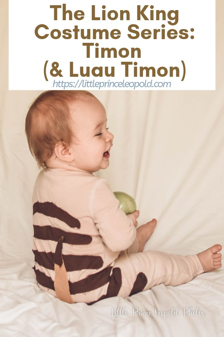 DIY timon costume no sew lion king