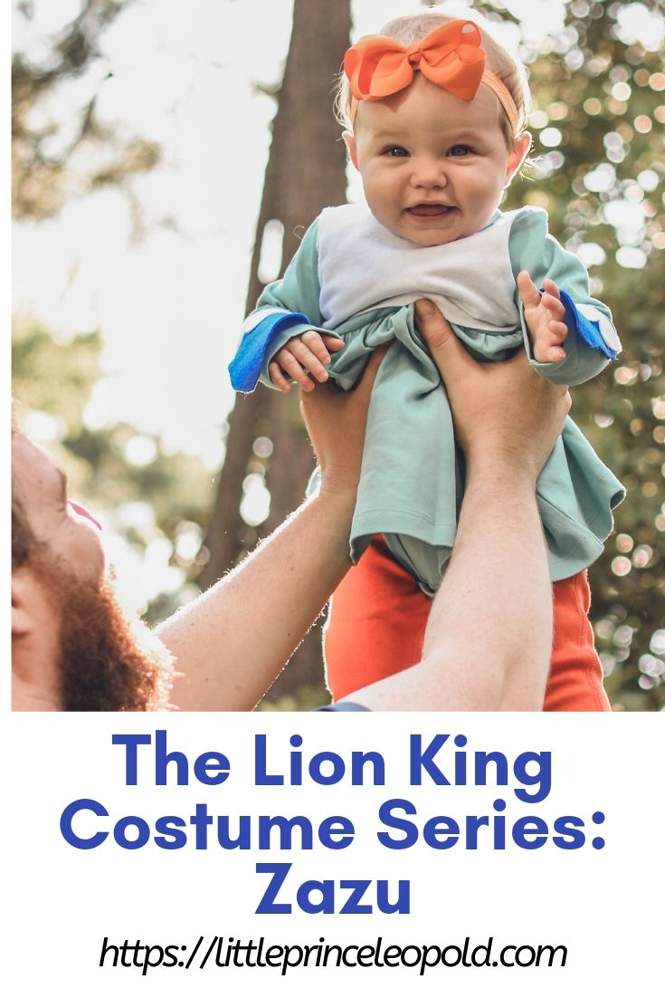 the lion king diy no sew costume zazu