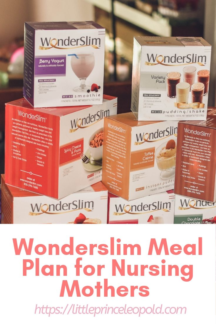 wonderslim nursing mothers plan