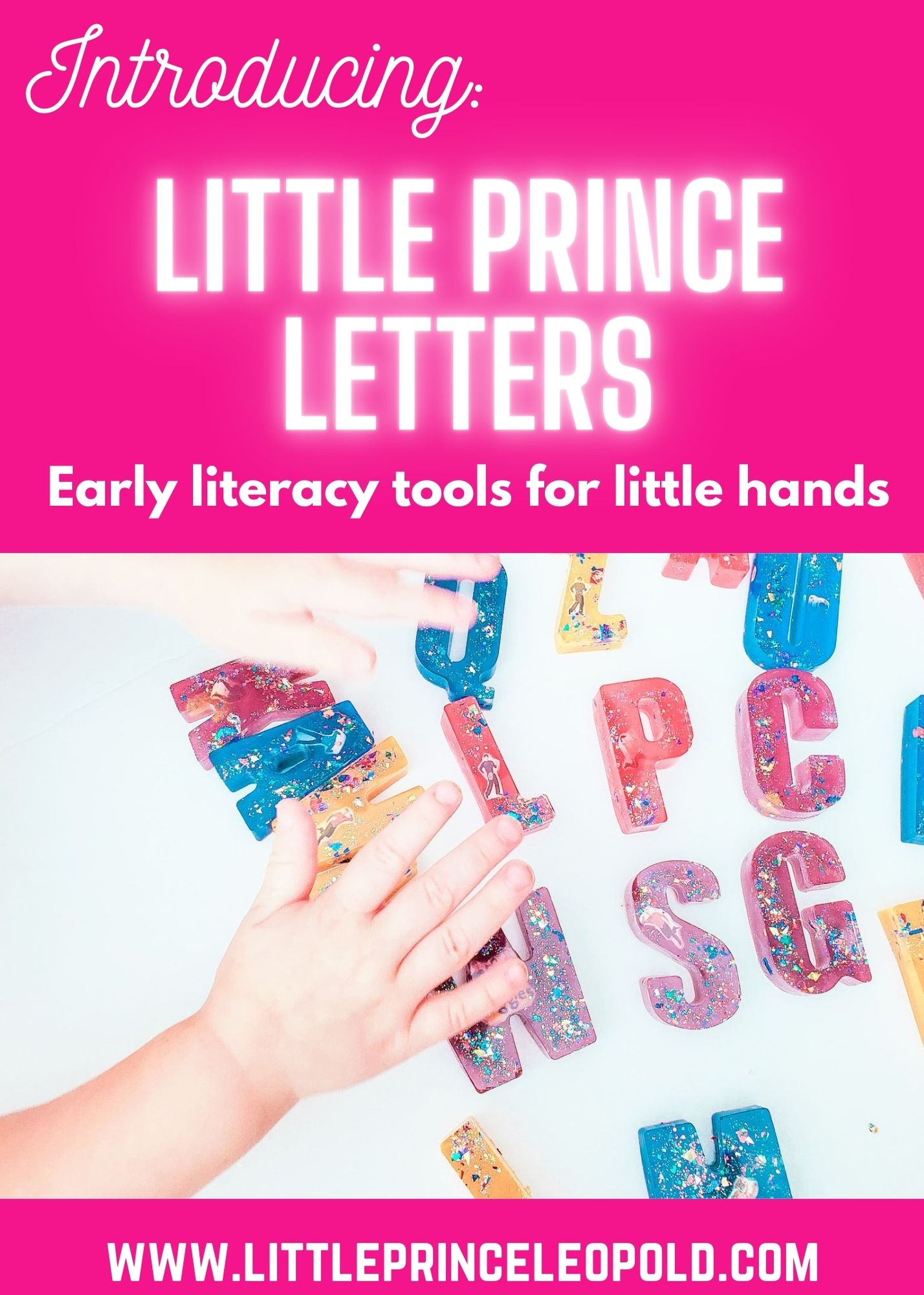 little prince letters - resin letters - early literacy - homeschooling - reading - preschoolers